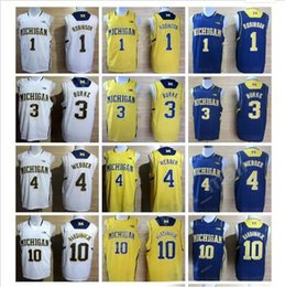 Wholesale college basketball shorts - College Michigan Wolverines Jerseys Basketball 1 Glenn Robinson III 3 Trey Burke 4 Chirs Webber 10 Tim Hardaway Jr 41 Glen Rice 5 Jalen Rose