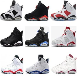 Wholesale Cheap Patent - Air retro 6 men Basketball shoes UNC black cat Maroon Hare Carmine Infrared sport blue Oreo Olympic retro 6s sports shoes cheap online