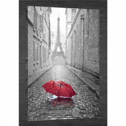Telai di parigi online-OMBRELLO ROSSO RAIN PARIS EIFFEL, HD Canvas Print Home Decor Art Painting / (Senza cornice / Incorniciato)