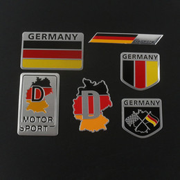 Wholesale Mirror Flags - German Car Auto Trunk SUV Germany Flag Aluminum Sticker Emblem Badge Decal