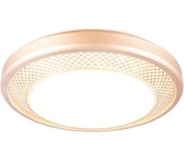 Argentina Lámpara de techo dorada Lámpara de dormitorio de habitación LED redonda Moda de iluminación simple fábrica al por mayor supplier golden ceiling lights Suministro