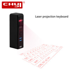 Wholesale wireless keyboard mini smartphone - CHYI Virtual Laser Mini Keyboard Wireless Bluetooth Projection Keyboard For Iphone Smartphone PC Tablets Notebook Computer