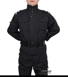 Trajes de combate negro online-uniforme del ejército de EE. UU. para hombres traje de entrenamiento negro hotel ropa de combate de la Asociación S-XXL