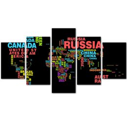 Wholesale Country Landscape Paintings - MingTing - 5 Panel Canvas Wall Country Puzzle Poster Painting Modern Home Decor For Living Room Aisle No Frame