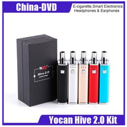 Jus de cigarettes électroniques en Ligne-Origianl yocan ruche 2.0 kit vaporisateur d'herbes sèches 650mah batterie intégrée pour jus et concentré vape stylos kits de cigarettes électroniques
