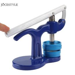 хрустальная окантовка Скидка Часы Bezel Inserts Часы Инструменты Часовая мастерская Пресса Инструменты для ремонта Набор часов Корпус Crystal Glass Press Set