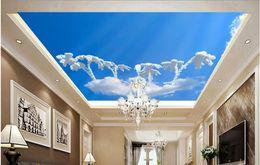 Wholesale Mushroom Nursery - decorative brick wall Blue sky clouds mushroom ceiling sky ceiling murals murals 3d ceiling