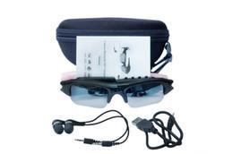Deutschland HD 720P Smart Sonnenbrille Kamera Brillen Musik Gläser Unterstützung TF Karte Videorecorder DVR DV MP3 Camcorder Kostenloser Versand auf Lager supplier camcorder camera mp3 Versorgung