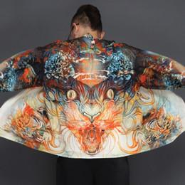 Argentina 2018 summer japón estilo kimono hombres 100% cottonlinen suelto para hombre chaquetas más manga abierta de la capa ocasional abrigo masculino cazadora cheap men loose linen jacket Suministro