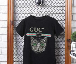 Wholesale family tees - UCC T Shirt Cat Head Beads Shirt Short Sleeves Adults Clothes Fashion Family Outfit Set Tees Tops New Brand Cotton Family Matching