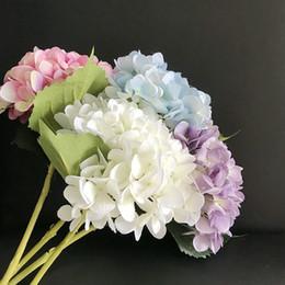 decorazioni calde del cuore rosa Sconti Artificiale tocco reale fiori grande fiore di ortensia 7.5 pollici fiori di seta falso bouquet di fiori per centrotavola tavola di nozze casa decorazione del partito