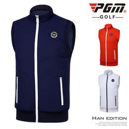 Wholesale Golf Vest Xl - PGM autumn and winter men's golf vest outdoor golf clothing thickened fleece warm golf sport sleeveless jacket