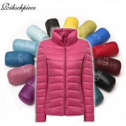 Wholesale Light Pink Women S Coat - Rihschpiece 2017 Winter Plus Size 3XL Jacket Women Ultra Light Parka Coat Padded Jackets Black Casual Clothes RZF1333