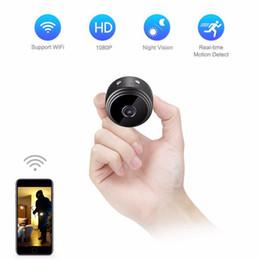 Cámara de seguridad micro visión nocturna online-Mini cámara wifi IP magnética A9 HD 1080P visión nocturna por infrarrojos Micro cámara de seguridad para el hogar Videocámara de vigilancia soporte detección de movimiento