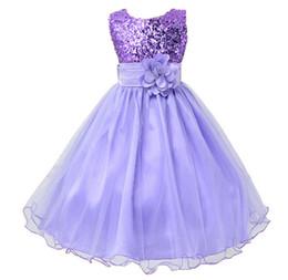 Argentina Venta caliente Baby Girl Lentejuelas Flor Vestido Fiesta Princesa Vestido Niños ropa para niños 9 colores 3-14yrs Vestido de niña de flores Suministro