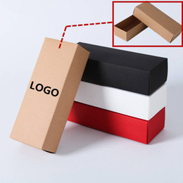 Wholesale white paper wrap - 10sizes 3colors drawer boxes,white shoes clothing box,kraft paper jewelry gift packaging boxes customized logo