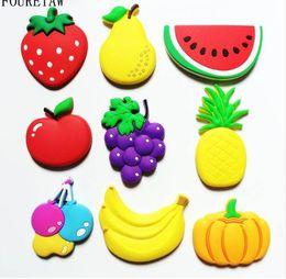 1 Piece Cartoon Kids Kawaii Fruits Banana Strawberry Watermelon Apple Grape  Pear Fridge Magnets Souvenir Magnetic Sticker TZ02 795b0839dc34
