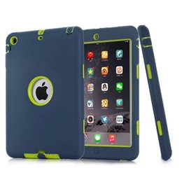 Wholesale Tough Ipad Cases - Defender Shockproof Robot Case Heavy Duty Hybrid Tough Armor Cases For iPad mini 1 2 3 4 pro 9.7 new ipad 2017