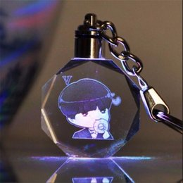 Wholesale Light Toy Fan - KPOP Bangtan Boys V LED Crystal Pendant Color Change Light-Up Model Toy BTS CustomMade Keyring Fans Gift 7033129