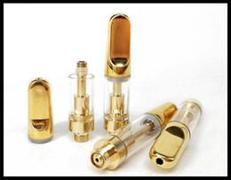 nouveaux dispositifs pour fumer Promotion Nouveau stylo à bille jetable cartouche or atomiseur capacité de 0,5 ml miel cire huile dispositif pour fumer bourgeon tactile vaporisateur dhl gratuit