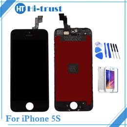 Wholesale Iphone 5s Display Replacement - For iPhone 5s Screen Grade AAA+++ LCD Display Touch Screen Digitizer & Assembly Replacement black white color With Tools & Free Shipping
