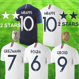 2018 world cup champion France campeón de la Copa del Mundo 2 estrellas Pogba fútbol Jersey PAYET DEMBELE MBAPPE maillot de pie GRIEZMANN KANTE Selecciones nacionales Fútbol 2 stars desde fabricantes