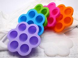 2019 кубики для хранения 7 Отверстий Силиконовые Лоток Для Льда Фрукты Десерт Ящик Для Хранения Кубик Льда Мороженое Чайник Кухонные Аксессуары Сдобы И Желе Чайник дешево кубики для хранения