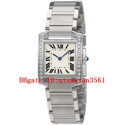 Новый W4ta0009 кварцевый белый циферблат женские часы сапфировое стекло из нержавеющей стали группа алмазов дело часы 30 х 25 мм supplier new steel watch case от Поставщики новый стальной корпус часов