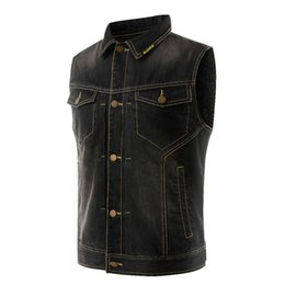SCOYCO Motorcycle Vest Jacket Retro Motorcycle Jeans Waistcoat Motorbike Racing Denim Jacket Moto Sleeveless