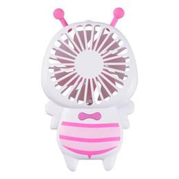 New Creative Luminoso Lampada da Notte Elettrica Mini Usb Ricaricabile Fan Bomboniere Piccole Ape portatili Ventilatori a mano in vendita calda 23zk aa da