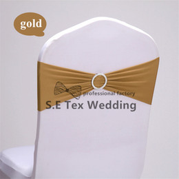 Wholesale cheap chair sashes wholesale - Cheap Price 200pcs Round Buckle Lycra Chair Band Spandex Chair Sash Used On Wedding Chair Cover Decoration Free Shipping