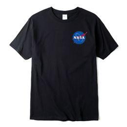 Wholesale T Shirts Designs For Men - Men's Nasa Print Design T-shirts Unisex Skate Fashion Tops Tee Women Space Nasa Clothing Brand Clothing for Female