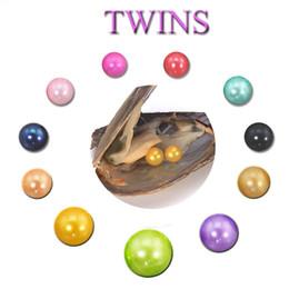 Perla rotonda Oyster Pearl 2018 New DIY 6-8mm 27 mix colore Acqua dolce Perla naturale regalo fai da te decorazioni sciolte sottovuoto spedizione gratuita cheap pearl oyster gifts da regali di ostrica della perla fornitori