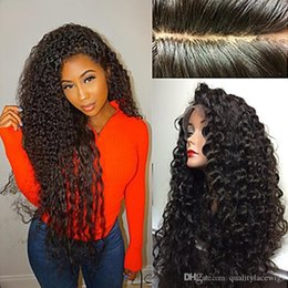 Wholesale french curls wig - 150% Density Natural Looking Brazilian Hair Curly Jerry Curl Human Hair Lace Front Wigs With Baby Hair Glueless Full Lace Wigs Pre Plucked