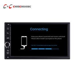 "cargador de coche mercedes Rebajas Android 6.0 Car DVD Player para 7 ""GPS universal Navi Radio BT WiFi Soporte OBD DAB + DVR"