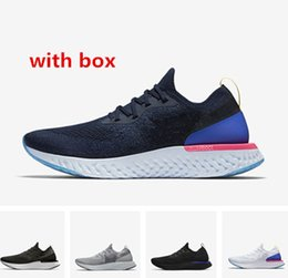 Wholesale Navy Cool - With box Epic React college navy oreo cool grey Running Shoes Instant Go Fly Breath Comfortable best quality men and women Athletic Sneakers