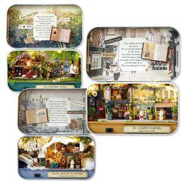 Box Theatre DIY Dans Un Coin Heureux 3D En Bois À La Main À La Maison Dollhouse Mignon Mini Maisons De Poupées Assembler Enfants Nouvel An Chambre de Cadeau Box Toys c324 ? partir de fabricateur