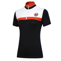 Argentina Camisa deportiva de golf de secado rápido transpirable de alta calidad PGM Camisa femenina de golf de alta elasticidad Camisa de manga corta + falda supplier quick drying t shirts Suministro