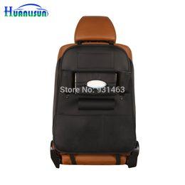 Wholesale vendita all ingrosso HUANLUSUN colori PU Car Seat Sacchetto di immagazzinaggio posteriore Organizzatore Travel Box Pocket universale Stowing Tidying Protector bambini