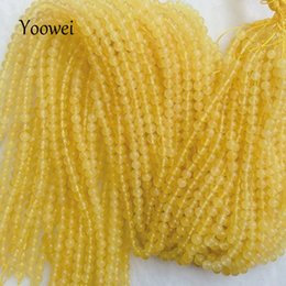 Wholesale Round Amber Beads - Yoowei Natural Amber Loose Beads 3.7mm 5mm Baltic Yellow Honey Round Good Quality Bead for Diy Jewelry Bracelet Necklace Making