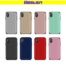 Wholesale cover luggage - Bestsin Luxury Luggage TPU+PC Phone Case For iPhone X 10 6 6S Plus 7 8 Plus Fashion Cute Suitcase Trunk Back Cover