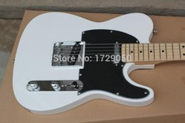 Wholesale Pick Guard Guitar - Chinese musical Instruments Factory custom 2015 New white TL electric guitar black Pick Guard free shipping 412asd