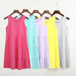 Discount fashion dresses 12 years - Mother and Daughter Dress Sleeveless Candy Colors 100% Cotton Korean Fashion Family Sisters Matching Clothing 3-12 Years Old