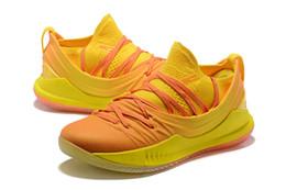2019 china asien Curry 5 Asia Tour Gelb Herren Basketballschuhe Stephen Curry 5 China Exklusiv Grau Gum Schwarz Weiß Tokyo Sport Sneakers Mit Box günstig china asien