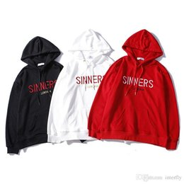 2018 designer box logo brand men Hoodie Paris SINNERS Embroidery Hooded  Hoodie Men women Luxury tracksuit Sweatshirt f4464e1339