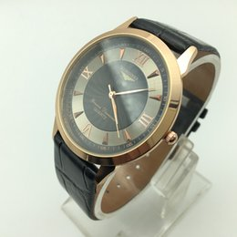 Wholesale Leisure Glasses - 2017 Replica new watch men's top luxury brand quartz watches ATM waterproof men watches leather fashion watch men leisure sports watch dress