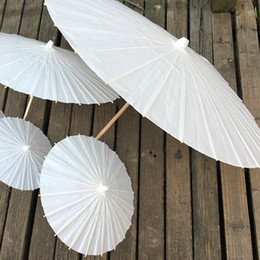 Wholesale Chinese Paper Umbrellas Wholesale - New DIY Paper Umbrella Bridal Wedding Paper Umbrellas Handmade Chinese Mini Drawing Craft Umbrella For Hanging Ornaments WX9-537
