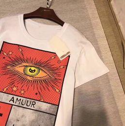 Wholesale Men High Collar T Shirt - New men woman Luxury Brand print t shirts Italy Fashion Angel eye shirts High quality Tees round collar shirt Tees