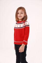 2019 suéteres jersey para niñas. De manga larga niños niños niñas navidad ciervos Kintting suéter para niñas bebés niños 2018 nueva historieta de cachemira Tops ropa jerseys rebajas suéteres jersey para niñas.