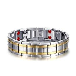 Deutschland Edelstahl Uhrenarmband Stil Armband für Man 15MM Inlay Germanium Magnet Stein Splitter Farbe Armband Euramerican Boy Geschenk supplier stone magnets Versorgung